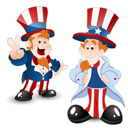 Set of Uncle Sam Portrait Stock Vector - 12860518