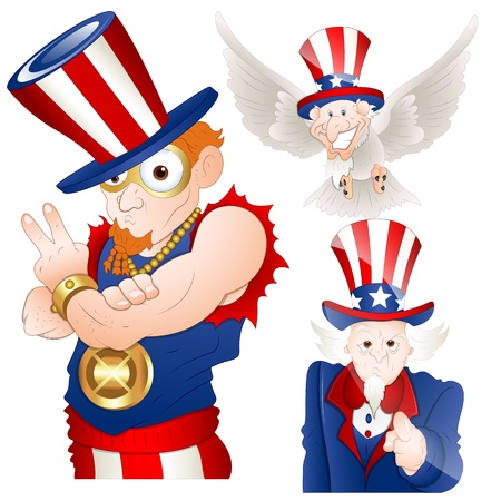 Uncle Sam Vector Illustration Vector