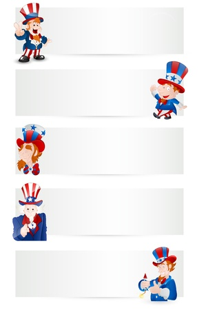Uncle Sam Vector Banners Stock Vector - 12860534
