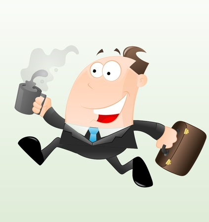 running late: Running Businessman Vector