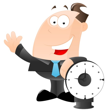 Businessman with Clock Vector Stock Vector - 12933547