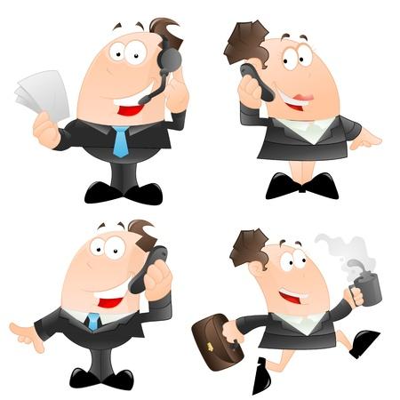 Set of Cartoon Business People Vector