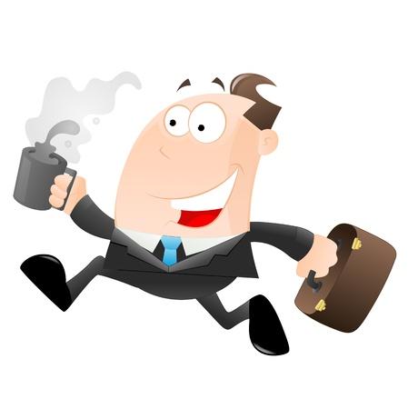 punctual: Cartoon Empresario Running