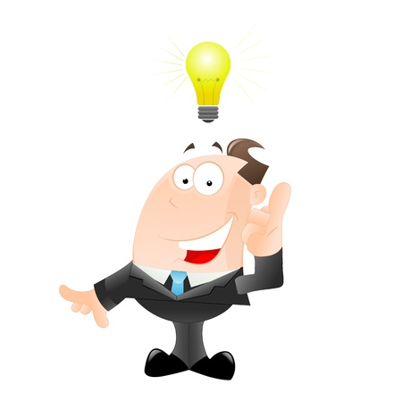 salesmen: Businessman Got an Idea Illustration