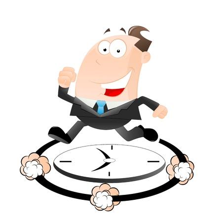 punctual: Empresario tarde al trabajo