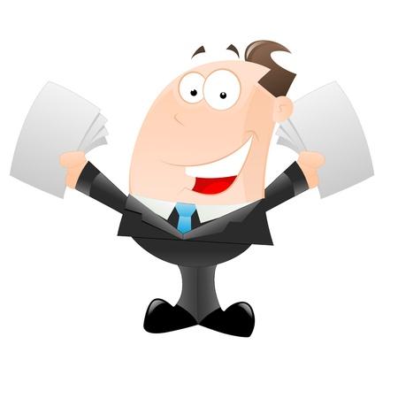 Happy Cartoon Businessman Stock Vector - 12933549