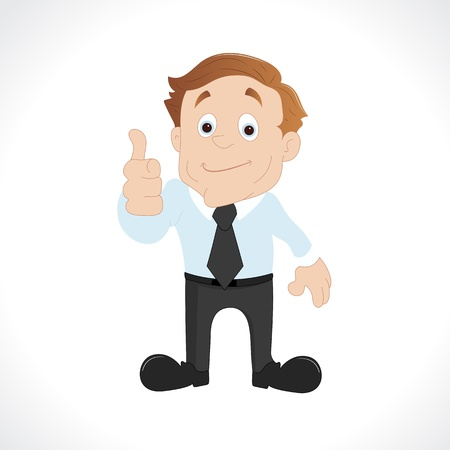 sales executive: Businessman Giving Thumbs Up Illustration