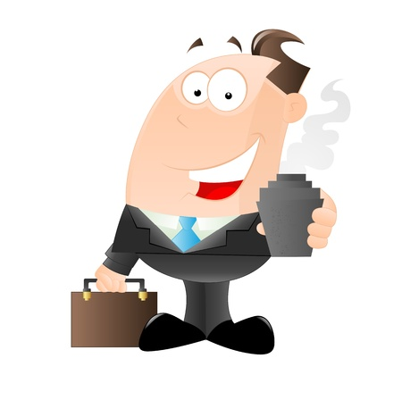 work break: Cheerful Businessman Illustration