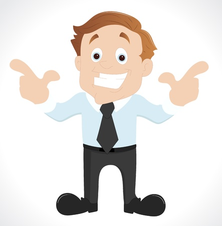 Happy Young Businessman Vector Vector