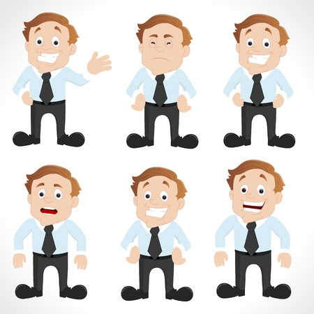 Businessman in Different Poses Vector