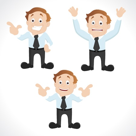sales manager: Set of Business Characters Illustration