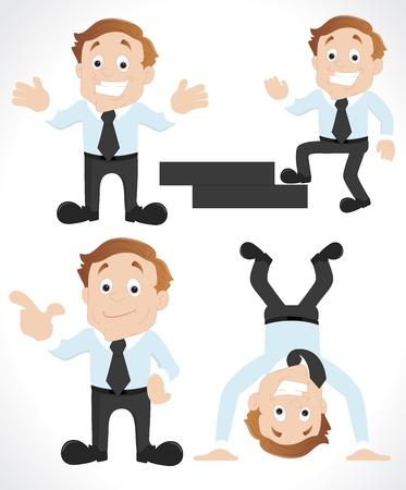 Businessman Cartoon Characters Stock Vector - 12861452