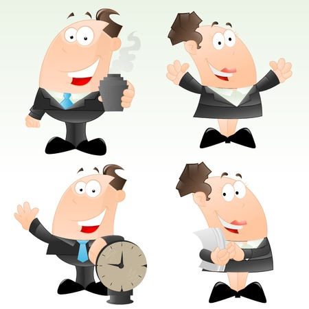 Set of Cartoon Office Worker Stock Vector - 12861888