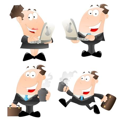 Cartoon Office Employees Vector Vector