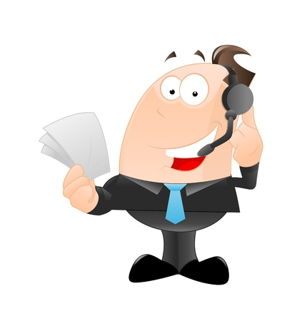 Businessman on Phone Vector