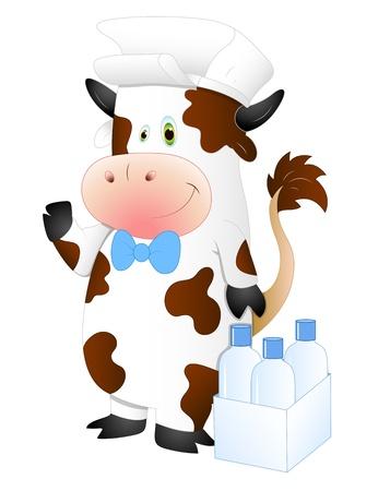 Milkman Cow Vector