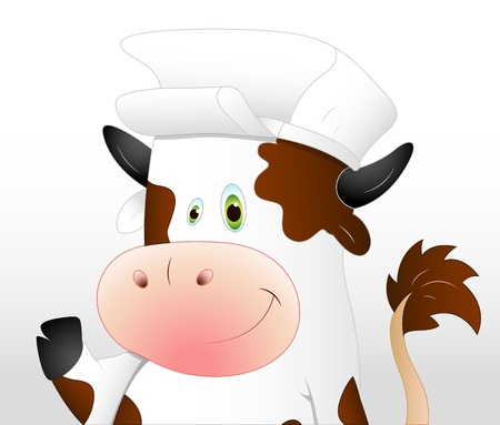 Dairy Cow Cartoon Vector