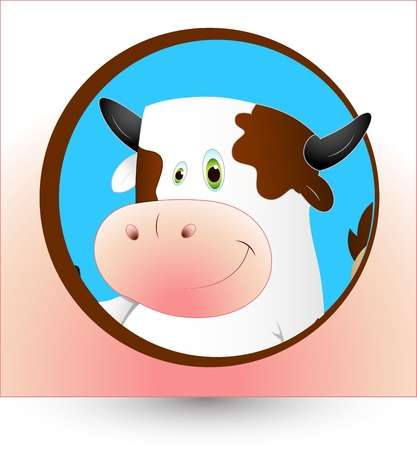 piebald: Dairy Cow Clipart Illustration