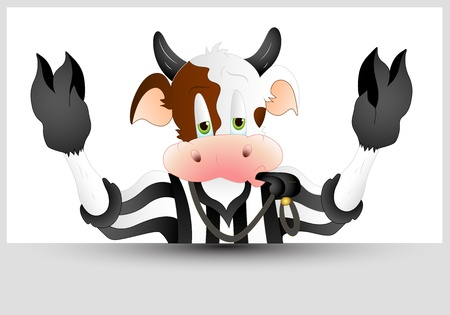 Referee Cow Vector