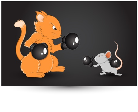 Mouse Fighting Vector Stock Vector - 12861706