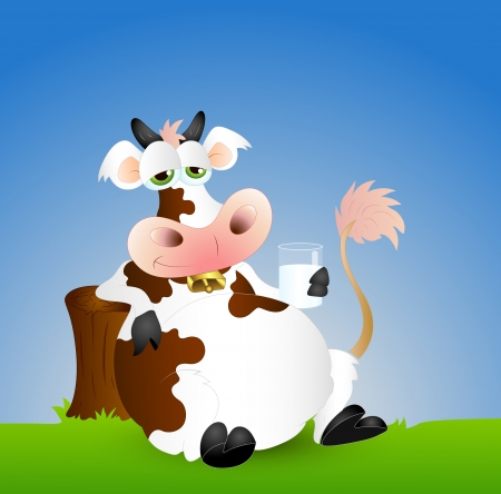 Funny Dairy Cow Vector