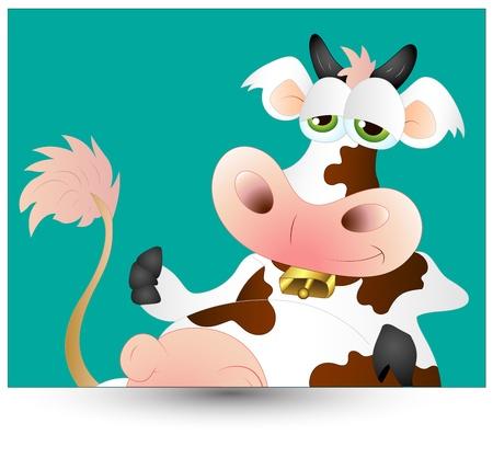cow bells: Divertido de la vaca Vectores