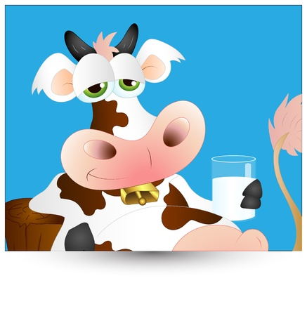 Funny Dairy Cow Vector Stock Vector - 12861572