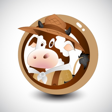 Cartoon Farm Cow Stock Vector - 12861749