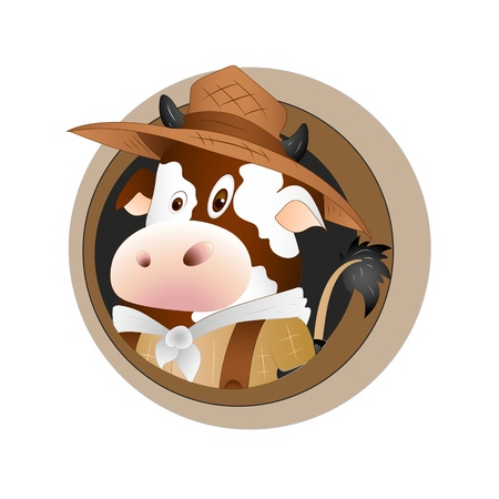 piebald: Dairy Cow Template Card