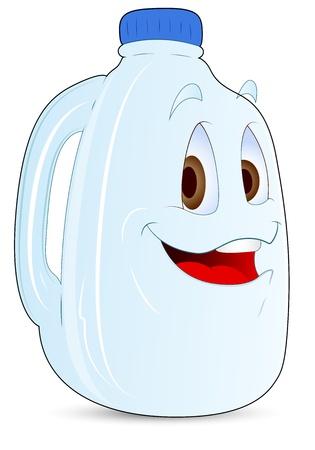envase de leche: Vector botella de pl�stico