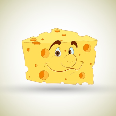 Cartoon Cheese Vector