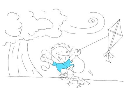 Cartoon Kid Enjoying Stock Vector - 13052150