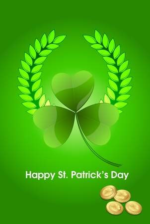 Patricks Day Shamrock Greeting Card Vector