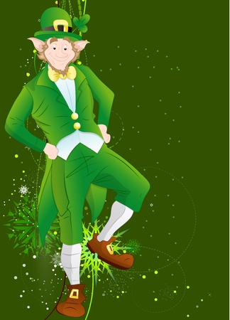 Irish Leprechaun St Patrick's Day Background Vector