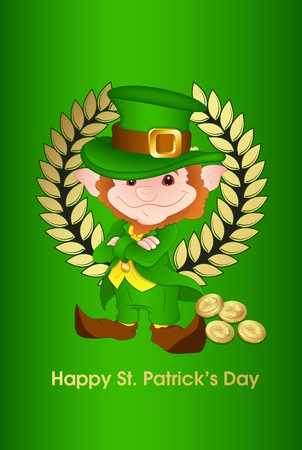 Retro St  st Patrick's Day Card Vector