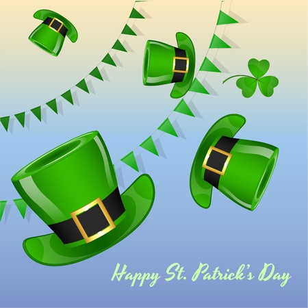 St Patricks Day Decorative Background Vector