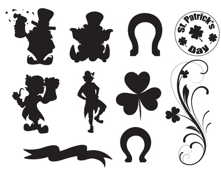 Patrick's Day Character and Elements Vector