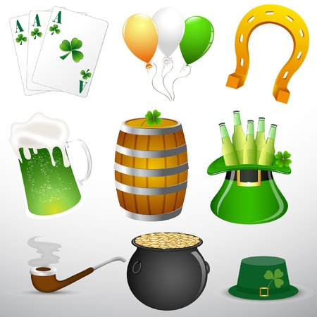 St Patricks Day Object Elements Vector