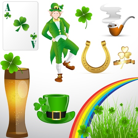 leprechaun background: St Patricks Day Holiday Elements