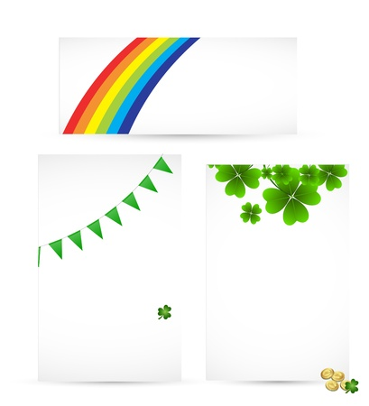 Set of st Patricks Day Templates Vector