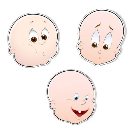 Children Faces Vector Vector