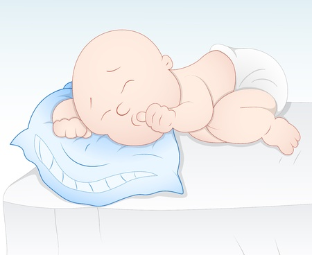 Cute Baby Sleeping Vector
