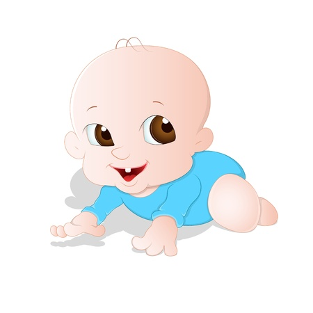 Adorable Baby Vector