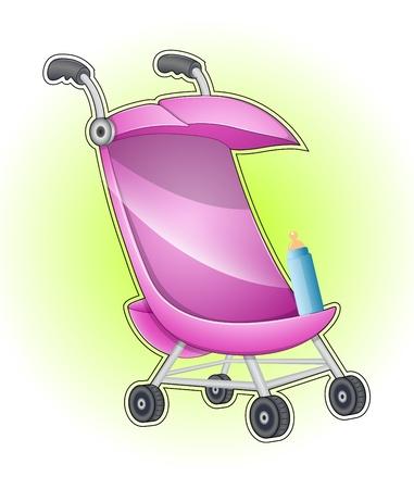 Baby Stroller Stock Vector - 13206983