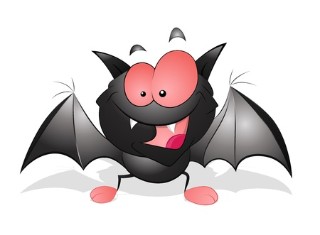 Happy Cartoon Bat Stock Vector - 13249882