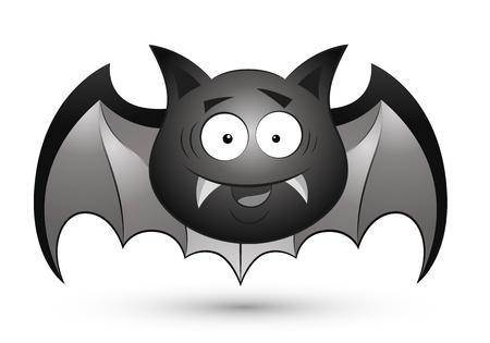 Cute Cartoon Bat Vector