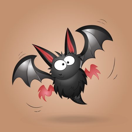 Funny Bat Vector Illustration