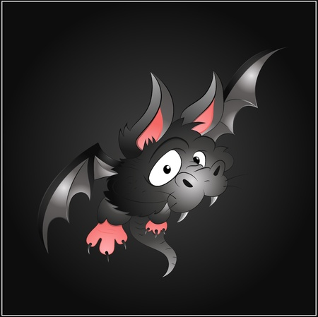Scary Bat Stock Vector - 13249883