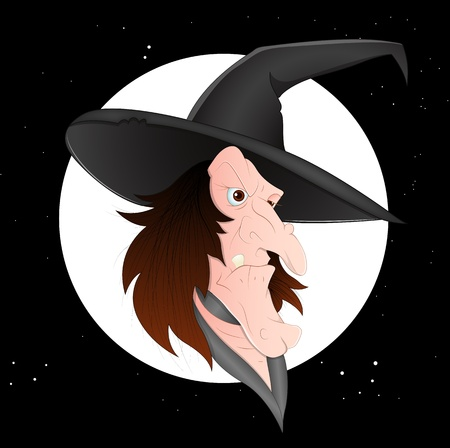 Cartoon Witch Vector Vector