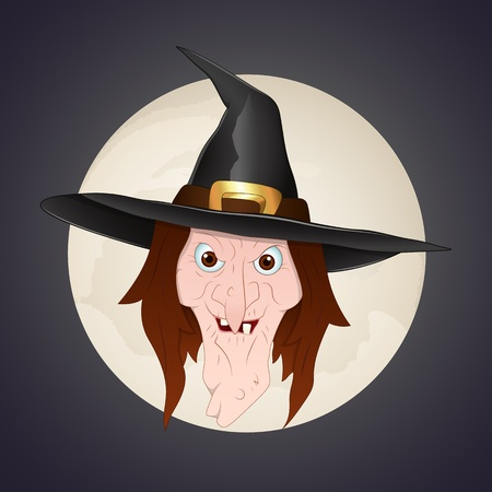 Witch Face Vector